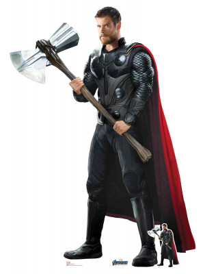Figurine en carton Marvel Thor Chris Hemsworth Avengers Endgame H 187 CM