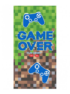 Serviette de bain Gamer 'Game Over'