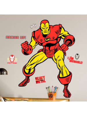 Stickers Géant Iron Man Comics Marvel