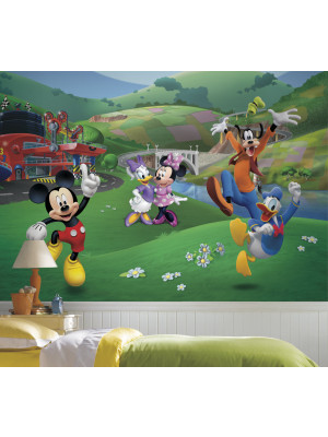 Papier peint Panoramique Surestrip (pose sans colle) Mickey et ses Amis Disney 320X182 CM