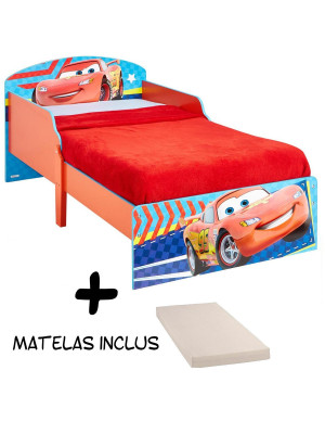 Lit enfant Cars Flash McQueen Disney + Matelas