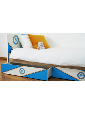 Lit enfant Olympique de Marseille collection Saint Charles 190 CM