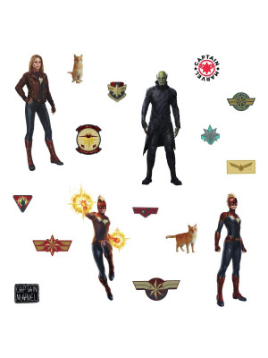17 Stickers Captain Marvel Avengers Disney