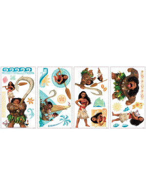 25 Stickers géants Vaiana Disney