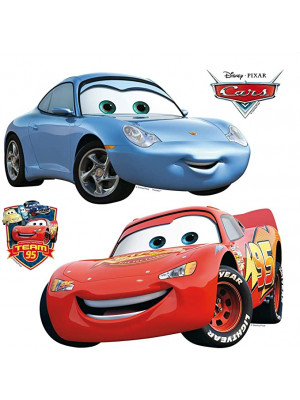 Minis Stickers Cars Flash McQueen et Sally Disney - 30 CM x 30 CM