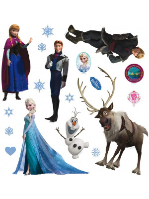 Mini Stickers Disney - La Reine des Neiges - 30 CM x 30 CM