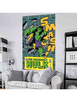 Poster géant intissé The Incredible Hulk Smash Avengers Marvel Comics