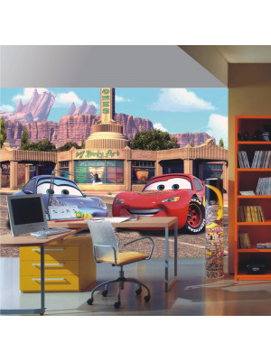 Papier peint Flash Mcqueen et Sally Cars Disney 360X255 CM