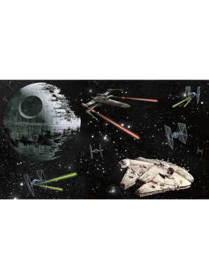 Papier peint Panoramique Surestrip (pose sans colle) Vaisseaux Star Wars  320X182 CM