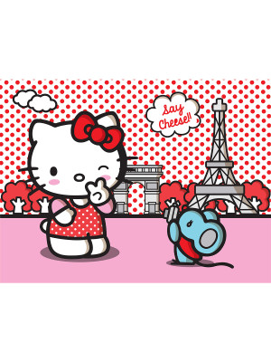 Papier peint XXL Hello Kitty Paris Sanrio