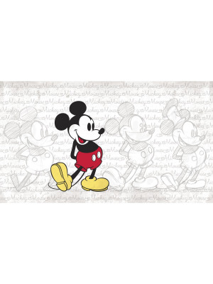 Papier peint Panoramique Surestrip (pose sans colle) Mickey Classic Disney 320X182 CM