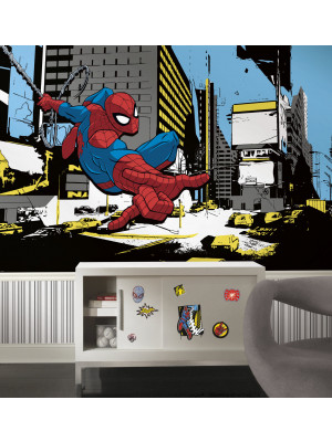 Papier peint Panoramique Surestrip (pose sans colle) Spiderman Classic 320X184 CM