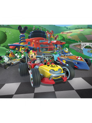 Papier peint Mickey Mouse Roadster Racers Disney  305X244 CM