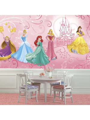 Papier peint Panoramique Surestrip (pose sans colle) Enchanté Princesses Disney 320X182 CM