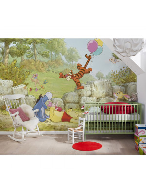 Papier peint Winnie l'Ourson Ballon Disney 368X254 CM