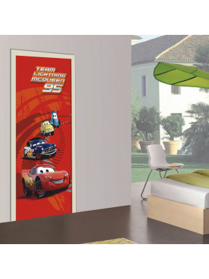 Poster porte Flash 95 Cars Disney intisse 90X202 CM