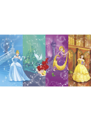 Papier peint Panoramique Surestrip (pose sans colle) scenes Princesses Disney 320X182 CM