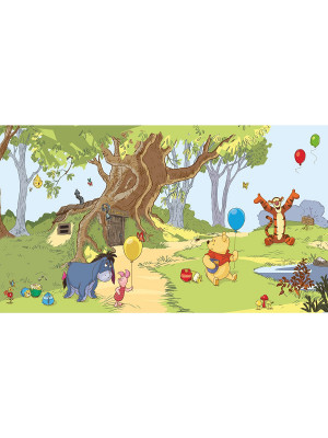 Papier peint Panoramique Surestrip (pose sans colle ) Winnie l'Ourson & Amis Disney 320X182 CM