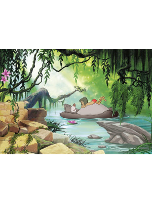 Papier Peint Photo Le livre de la jungle Disney Nager avec Baloo 368cm x 254cm