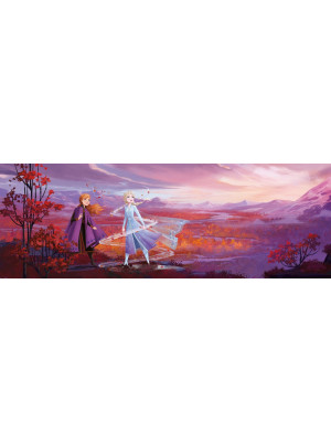 Papier Peint Photo panorama La Reine des Neiges 2 Disney Anna et Elsa 368cm x 127cm