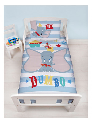 Parure de lit reversible Junior Dumbo Disney