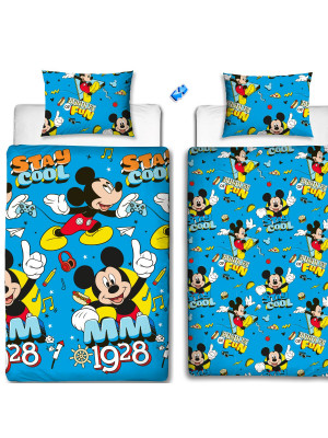 Parure de lit réversible Cool Mickey Mouse Disney