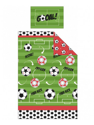 Parure de lit simple Football pour lit - GOAL 135 cm x 200 cm