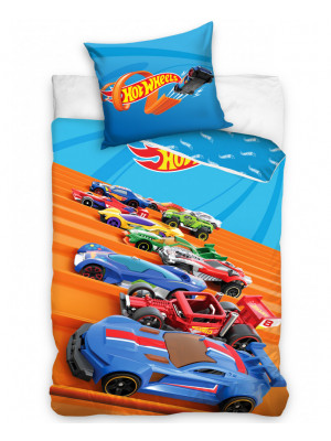 Parure de lit simple Hot Wheels - 140 cm x 200 cm