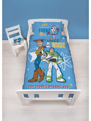 Parure de lit reversible Junior Toy Story 4 Disney