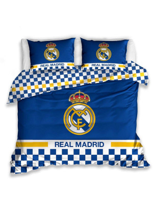 Parure de lit double Real Madrid 100% coton 220x200 cm