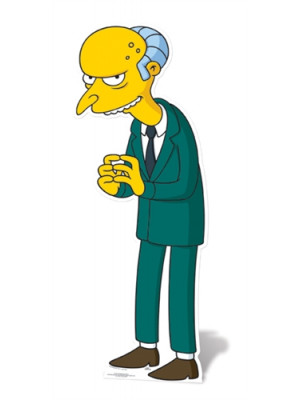Figurine en carton taille réelle Mr Burns Simpson