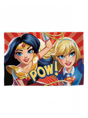 Plaid polaire Dc Comics - super héros girl power - 100cm x 150cm