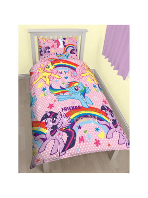Parure de lit My Little Pony Simple de 135cm x 200cm + Taie D'oreiller Simple