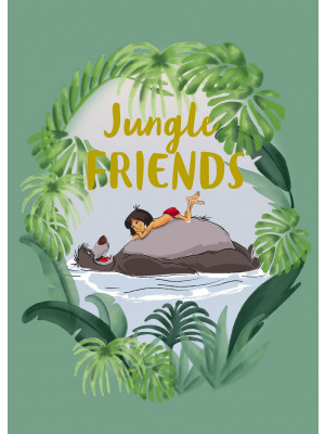 Poster Disney Le livre de la Jungle - Mowgli et Baloo les amis de la Jungle 30 cm x 40 cm
