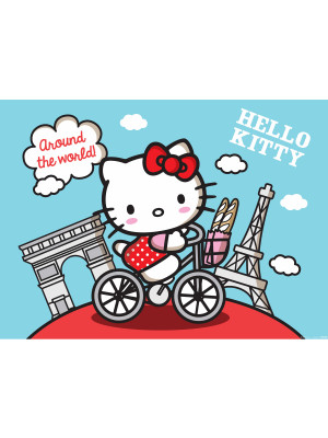 Poster XXL Hello Kitty Paris Sanrio