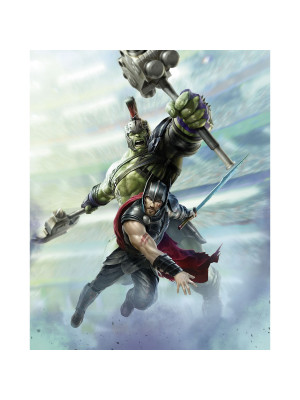 Poster XXL panoramique Thor 3 Warriors - Mavel 200X250 CM