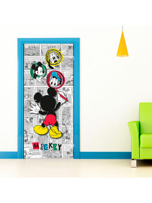 Poster porte Dessin Mickey Mouse Disney intisse 90X202 CM