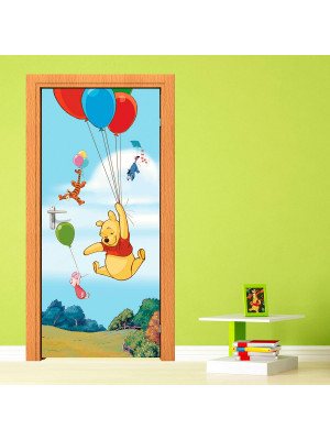 Poster porte Winnie l'Ourson Ballon Disney intisse 90X202 CM