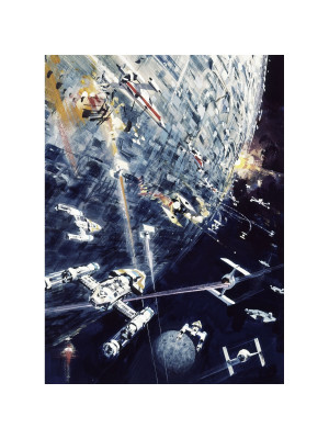 Poster XXL panoramique Dogfight Star Wars 200X275 CM