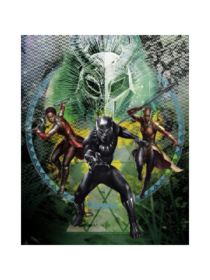 Poster XXL Intissé panoramique Black Panther Collage Marvel 200X250 CM