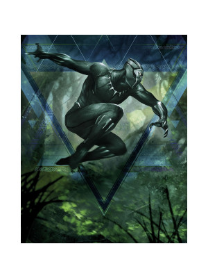 Poster XXL Intissé panoramique Black Panther Jungle Beast Marvel 200X250 CM