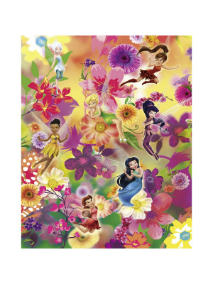 Poster XXL Intissé panoramique Fée Clochette - Fairies Flowers - Disney 200X250 CM