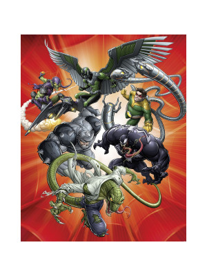 Poster XXL Intissé panoramique Spider-Man Sinister Six Marvel 200X250 CM