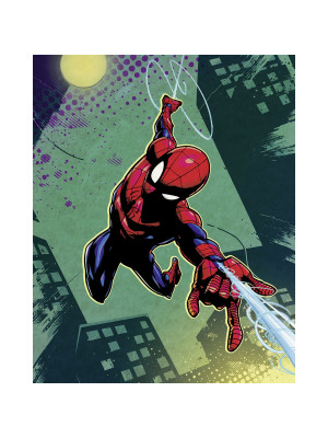 Poster XXL Intissé panoramique Spider-Man Charge Marvel 200X250 CM