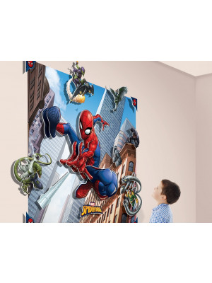 Poster XXL avec personnages en relief  Spiderman 3D pop out 122X152 cm