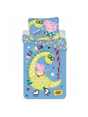Parure de lit Simple Peppa Pig George Dino - 140 cm x 200 cm