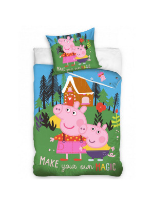 Parure de lit Simple Peppa Pig Magic en foret - 140 cm x 200 cm