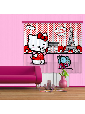 Rideaux Hello Kitty à Paris Sanrio-Standard : 180x160 cm