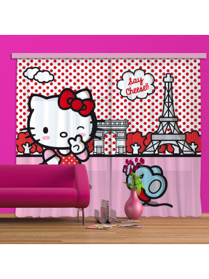Rideaux Hello Kitty à Paris Sanrio-Standard : 280x245 cm
