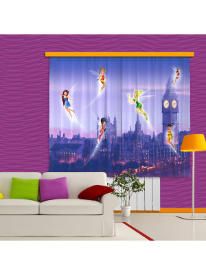 Voilage Fée Clochette à Londres Disney Fairies 280x245cm